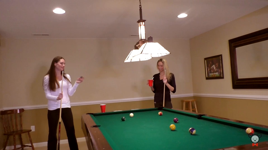 Girls Night Out Turns Into Sultry Game Of Strip Pool Followed By Pussy Worship Thumbnail